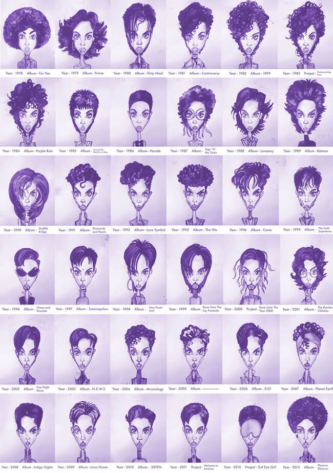 Prince's Hair Styles From 1978 To 2013 1