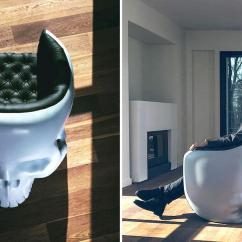 Plush Leather Chair White Arm Admit It, You Always Wanted A Skull In Your Life