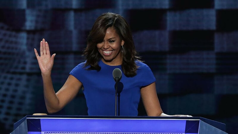 Watch Michelle Obama Giving a Heart Warming Speech At The