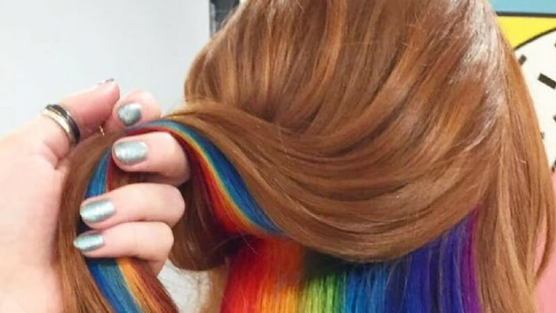 Hidden Rainbow Hair Is A Brilliant New Idea That Lets You