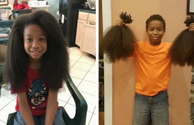 8YearOld Boy Grew His Hair For Two Years To Make Wigs For Kids With Cancer