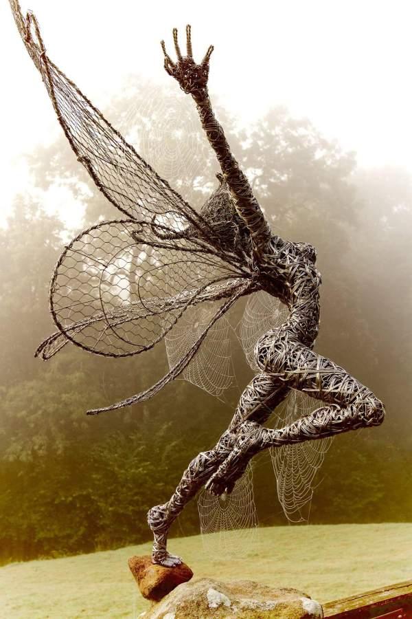 Fantasy Wire Sculptures Robin Wight