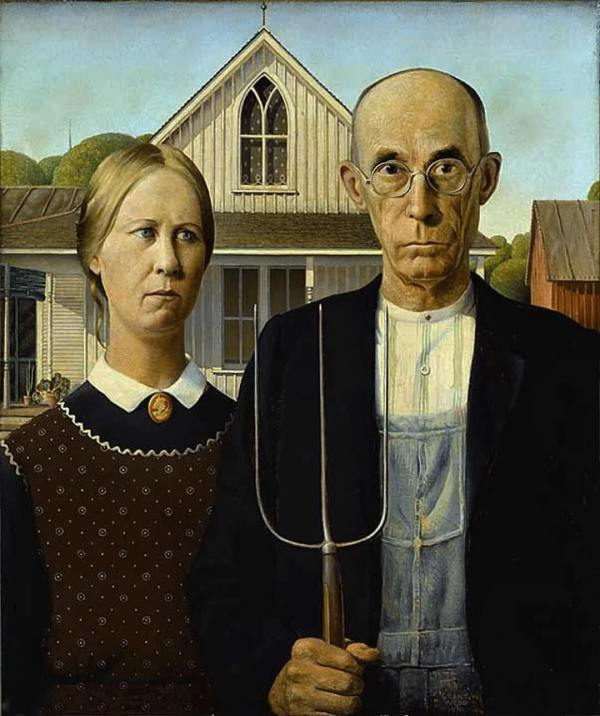 Grant Wood American Gothic 1930