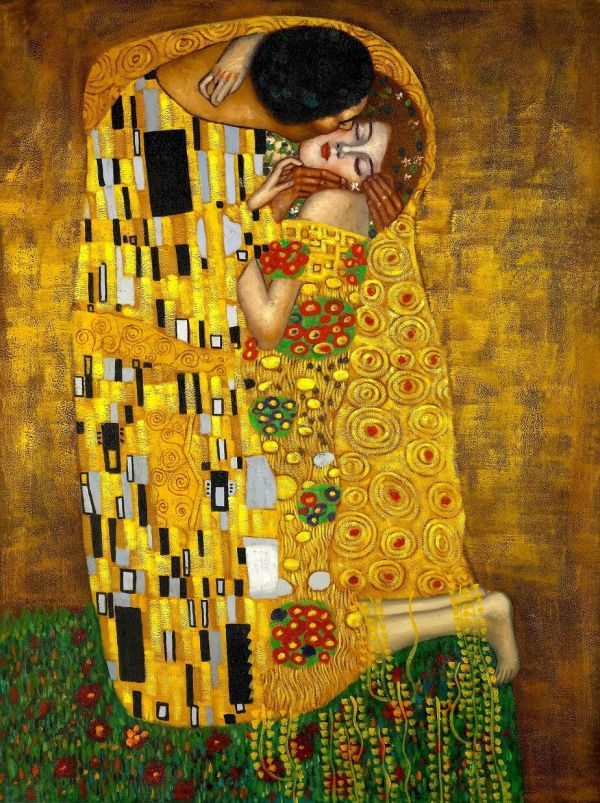Painting by Gustav Klimt the Kiss