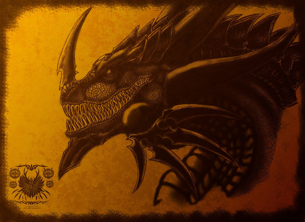 32 Awesome Dragons Drawings And Picture Art Of The