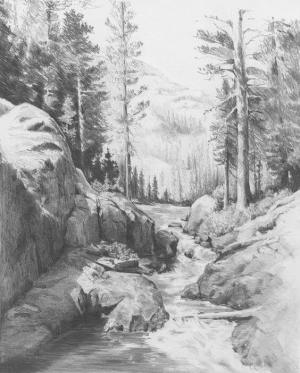 nature pencil drawings mountain artist sketches want feel fresh air