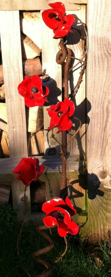 Ceramic Poppies arranged 2