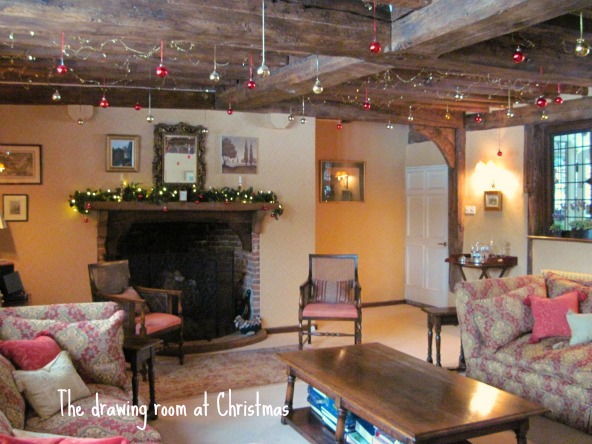 The Christmas drawing room