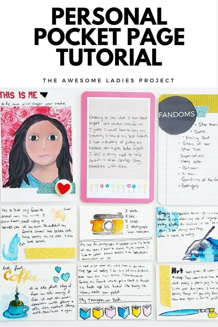 Awesome Ladies Personal Pocket Page Tutorial