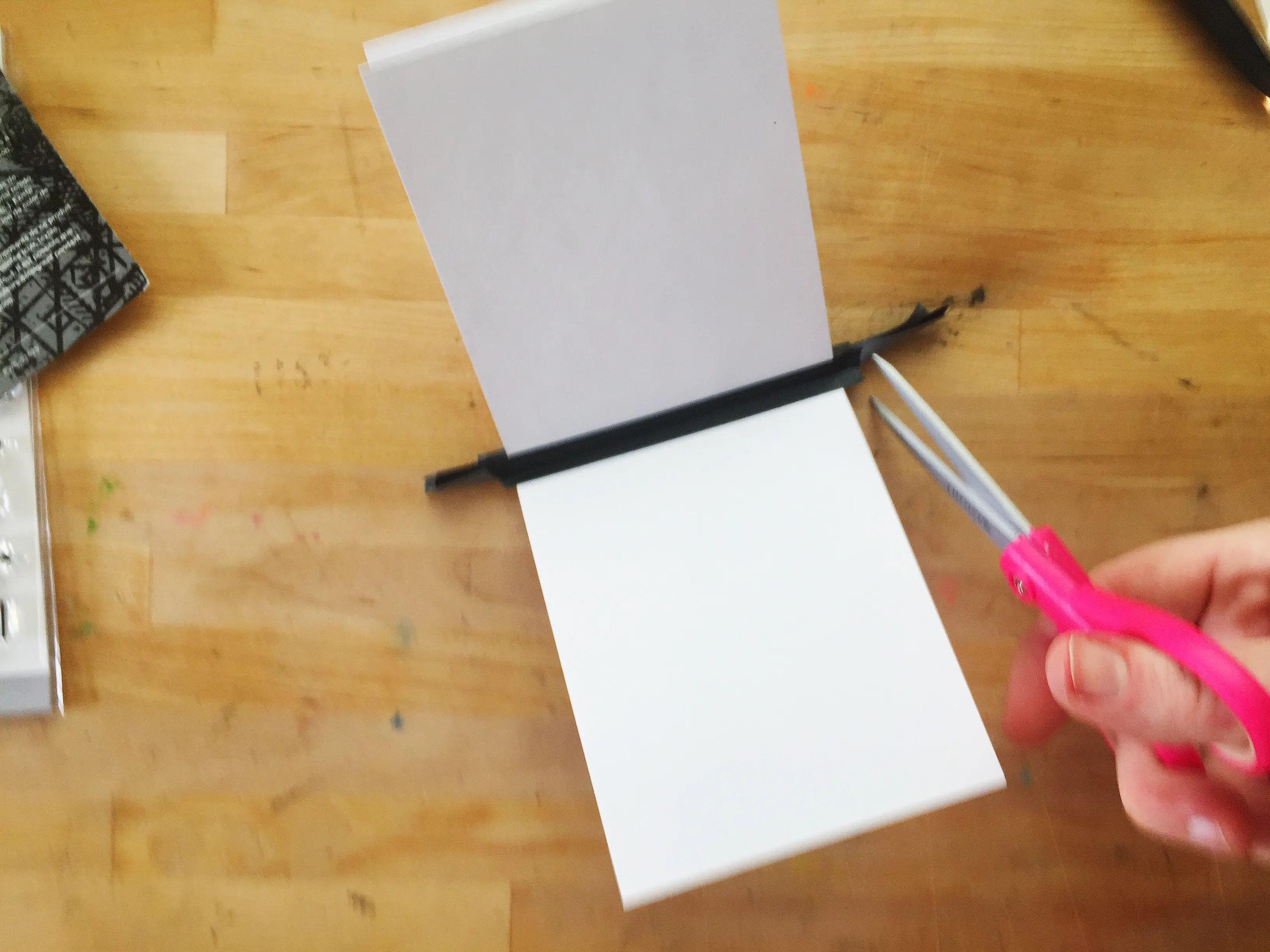 diy scrapbook single sheet of paper