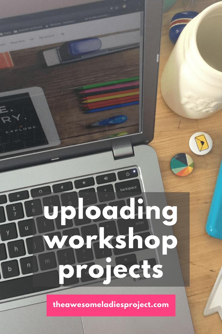 uploading workshop projects