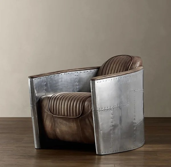 brushed aluminum chairs hobby lobby table and aviator chair - the awesomer