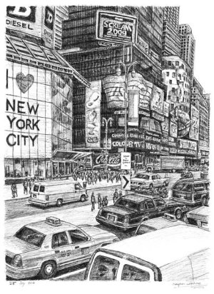 stephen wiltshire york square times cityscapes drawing drawings draw draws dessins skyline urban dibujo memory landscapes zeichnen famous his he