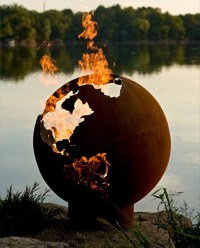 Planet Earth Fire Pit - The Awesomer