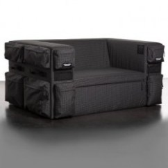 Eastpack Sofa 3pc Euro Design Dark Gray Microfiber Sectional Eastpak