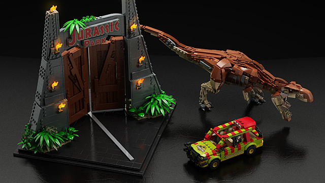 LEGO Jurassic Park Concept The Awesomer