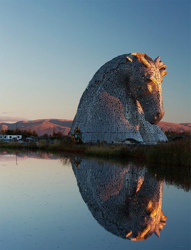 Giant Horse Head Sculptures