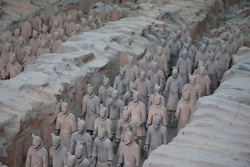"Mausoleum of the First Qin Emperor: Xincheng, Xi""an, Shaanxi China"