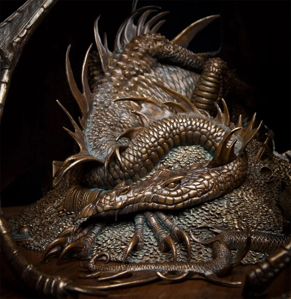 Bronze Smaug Sculpture - Awesomer