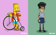 cartoon hipsters