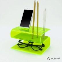 Bent Acrylic Desk Organizers - Awesomer