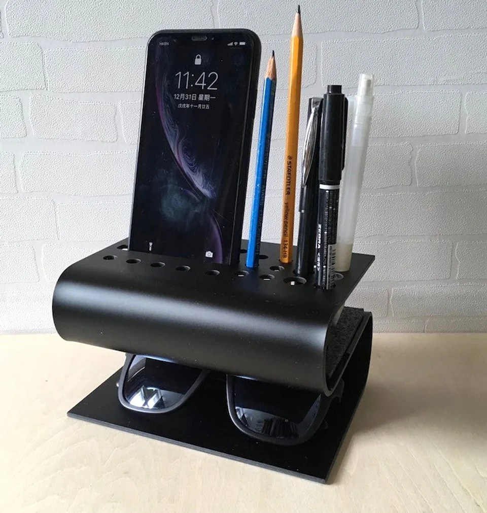These Bent Acrylic Desk Organizers Are Perfect for