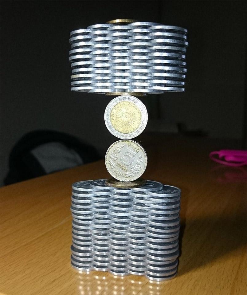 Coin Stack Sculptures