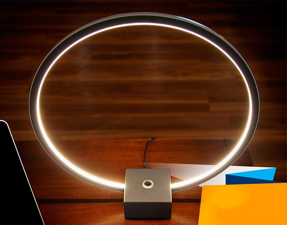 Circle LED Table Lamp The Awesomer