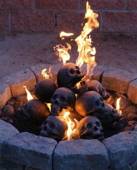 "Skull Fireplace ""Logs"" - The Awesomer"