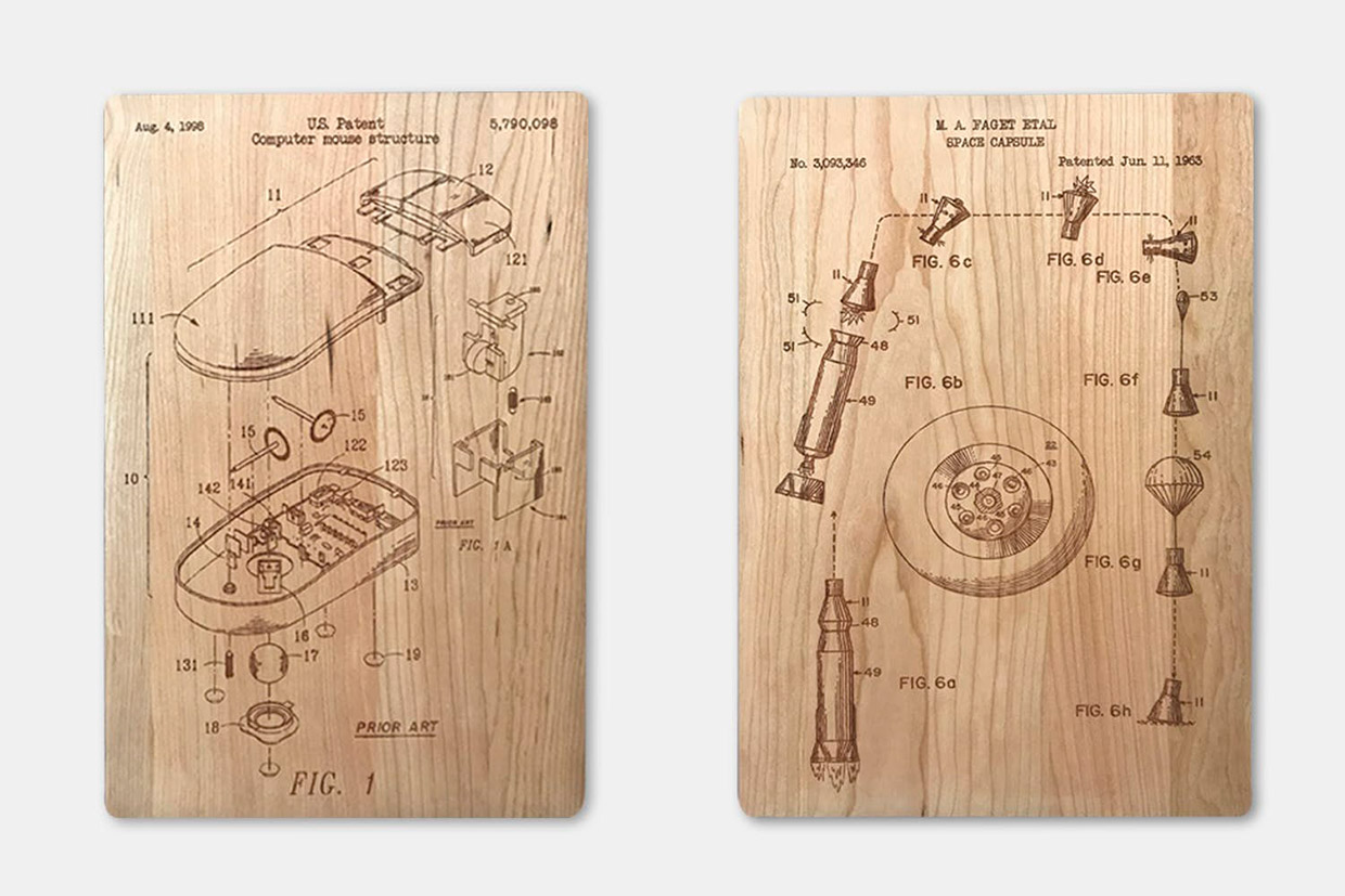 hight resolution of engraved wood patent prints