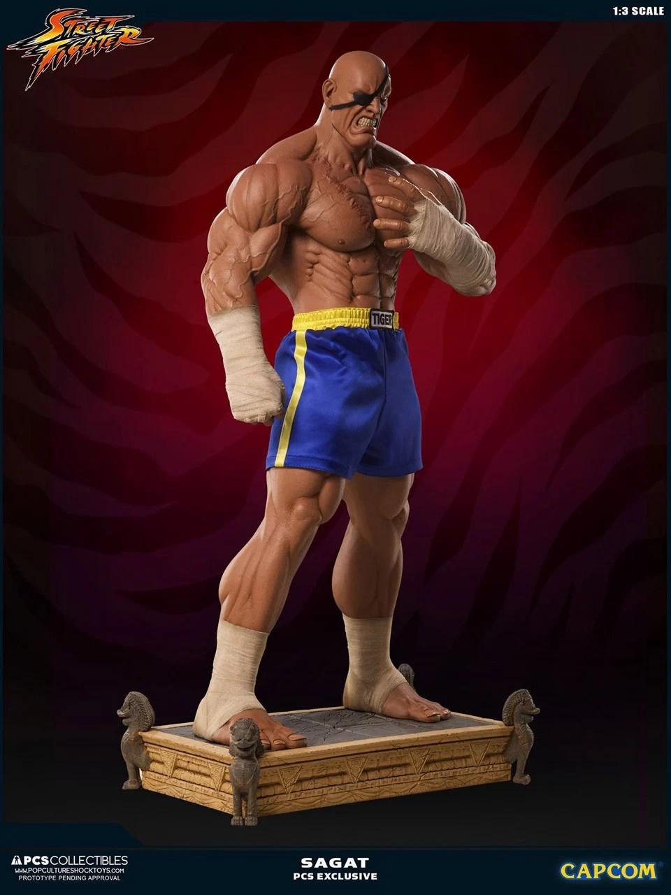 These Badass 1 3 Scale Street Fighter Sagat Statues Sell
