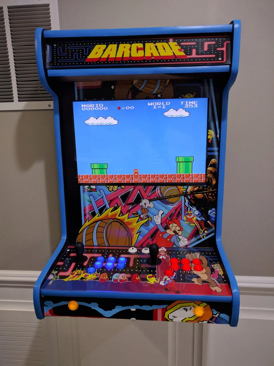 Save Money And Space With This Custom Wall Mounted Arcade