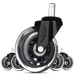 Office Chair Rollerblade Wheels Stork Craft Rocking Upgrade Your With These Casters