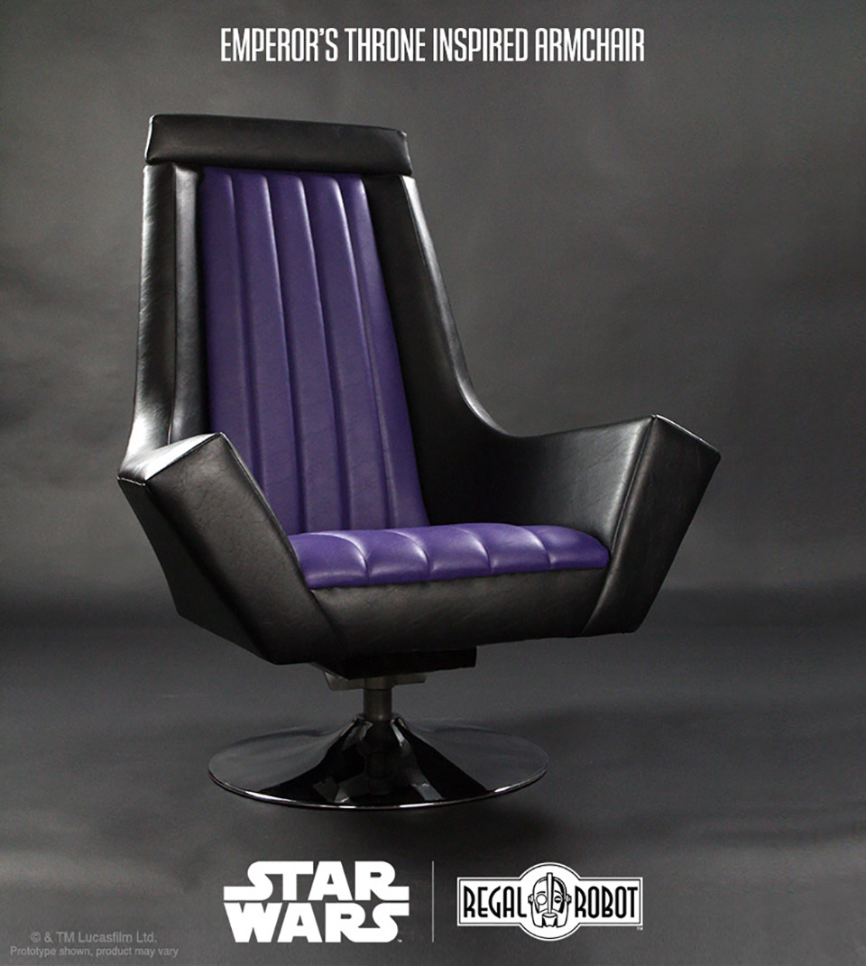 leather swivel barrel chair outdoor with canopy live like an emperor this return of the jedi-inspired throne