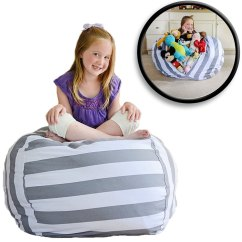 Bean Bag Storage Chair Gym Exercise System With Twister Seat Stuff N Sit Is A That Uses Soft Items As