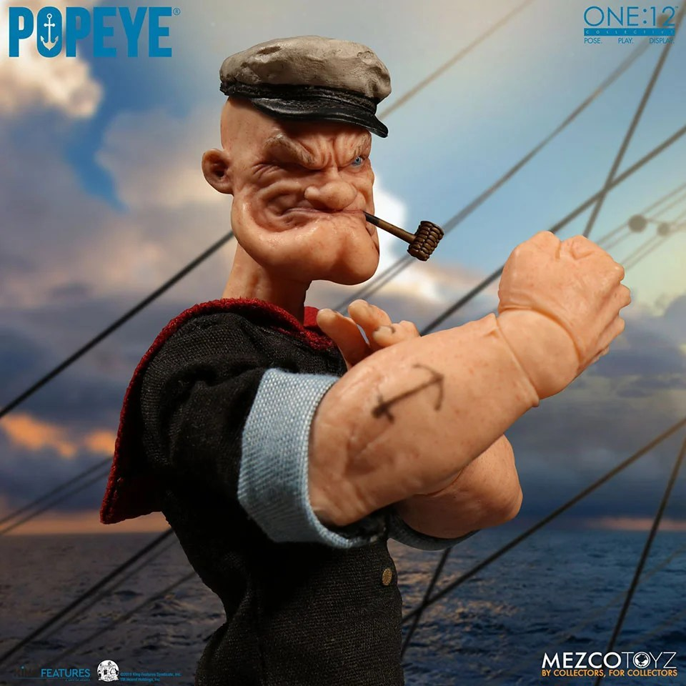 Mezco Toyzs Popeye Action Figure is Here to Protect the