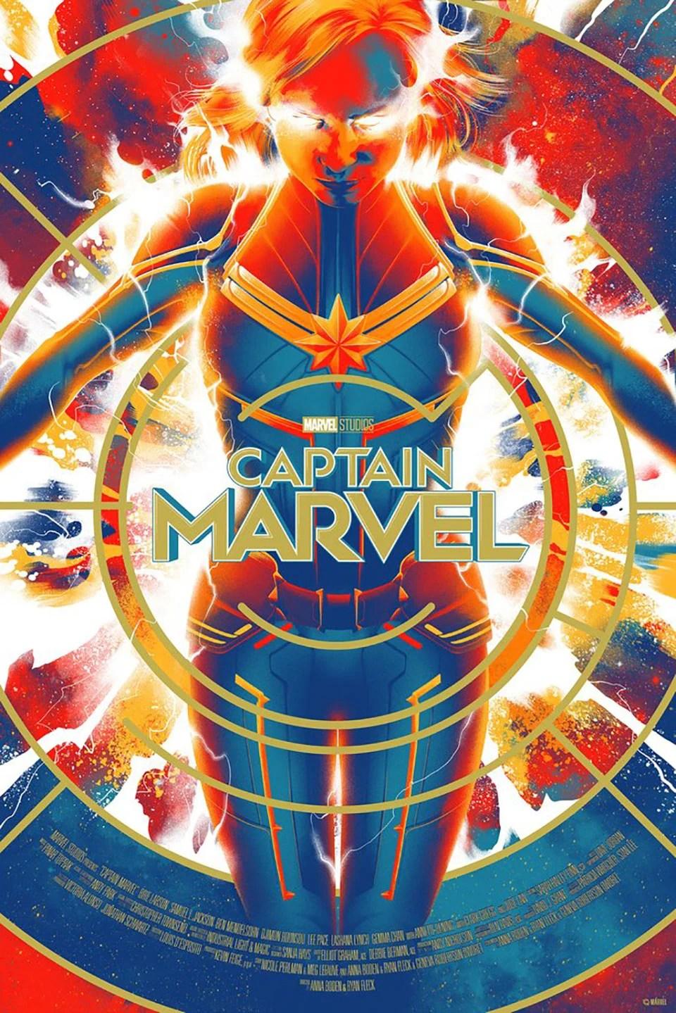 mondo captain marvel posters pins