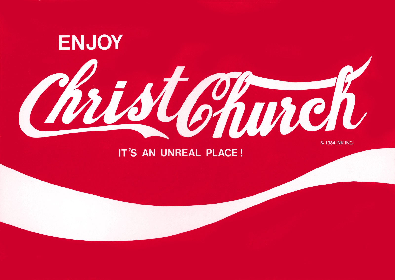 Enjoy Christchurch graphic by Stu pre-dated the Absolutely Wellington campaign by at least a decade!
