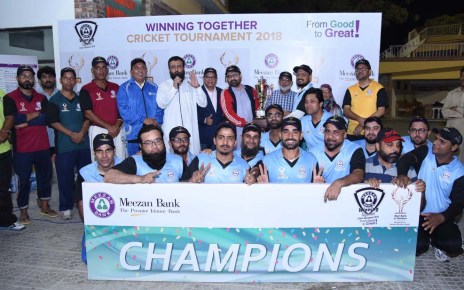 Meezan Bank's Karachi East Team wins 'Winning Together' Cricket Tournament-2018