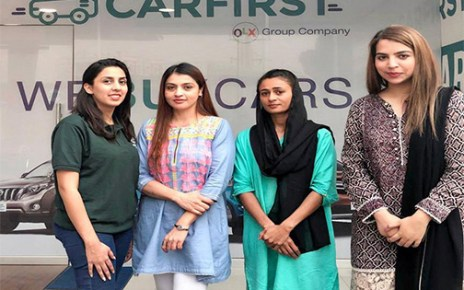 CARFIRST LAUNCHES PAKISTAN'S FIRST ALL-FEMALE STAFF PURCHASE CENTER FOR USED CARS
