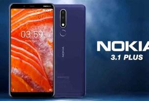 Nokia 3.1 Plus to the Pakistan