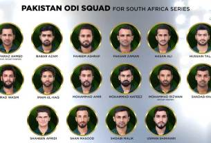 Pakistan squad for South Africa ODIs