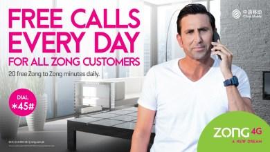 Zong 4G Announces FREE Calls