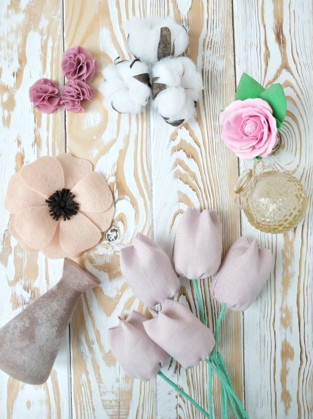 5 идей цветов, сделанных своими руками