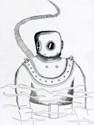deep sea diver sketches meaning drawing sketch coloring cool roll template