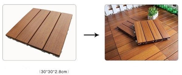 Rucca Wood Flooring Square Tiles