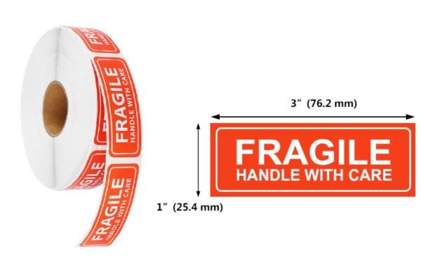 Fragile Sticker - 3x1