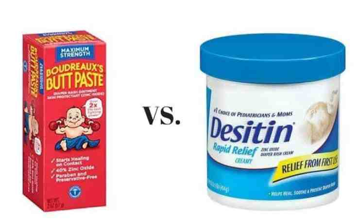 Butt Paste vs. Desitin Diaper Rash Cream
