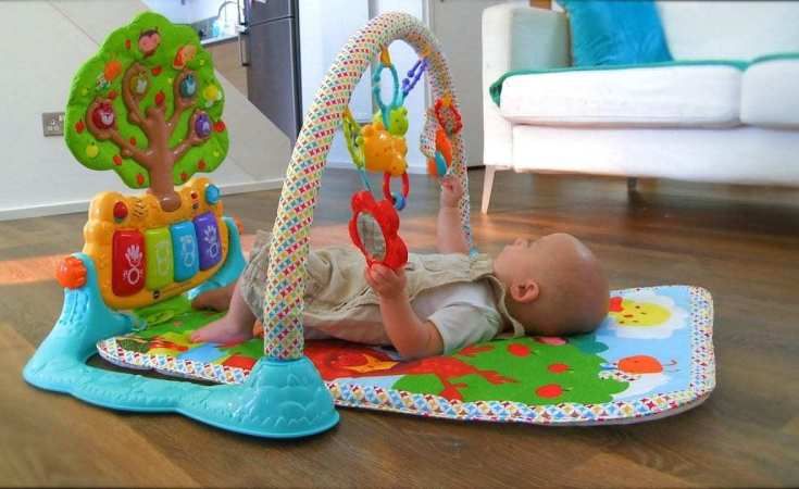 vtech baby lil'critters musical glow gym