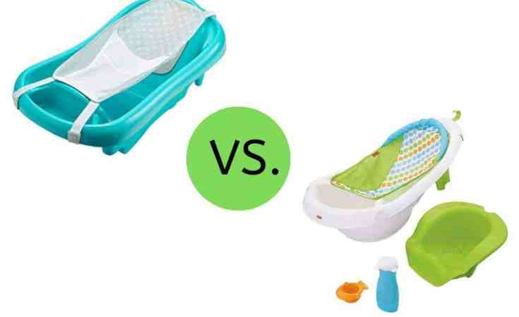 First Years Sure Comfort Deluxe NewbornTo Toddler Tub vs. Fisher-Price 4-In-1 Sling 'N Seat Tub